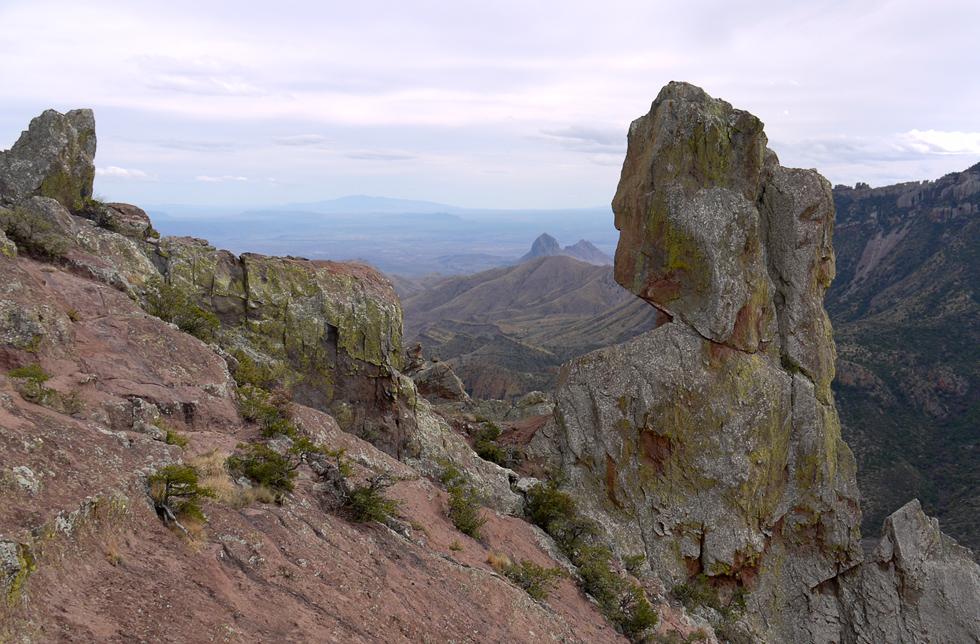 Вид с горы в конце мартшрута The Lost Mine