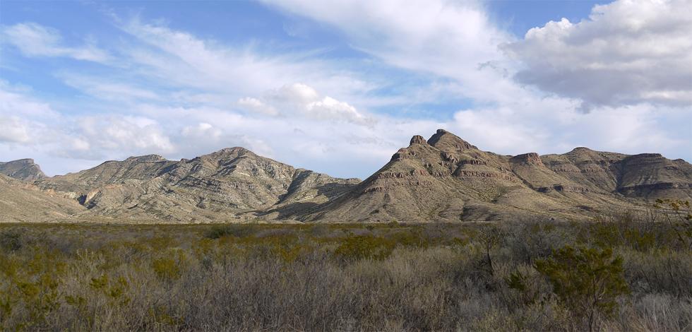 Гора в Национальном парке Биг Бенд (Big Bend NP)
