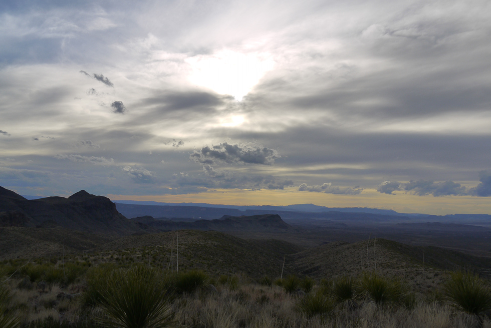 Вид с горы в Национальном парке Биг Бенд (Big Bend NP)