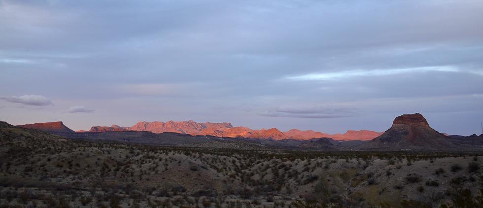 Огненные горы на закате