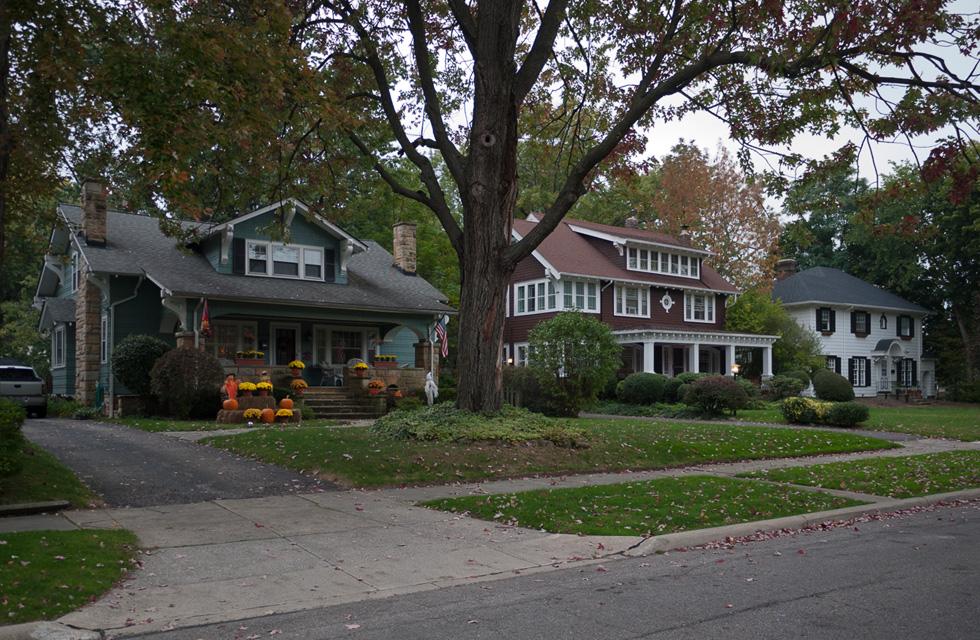 Три дома в Кливленде