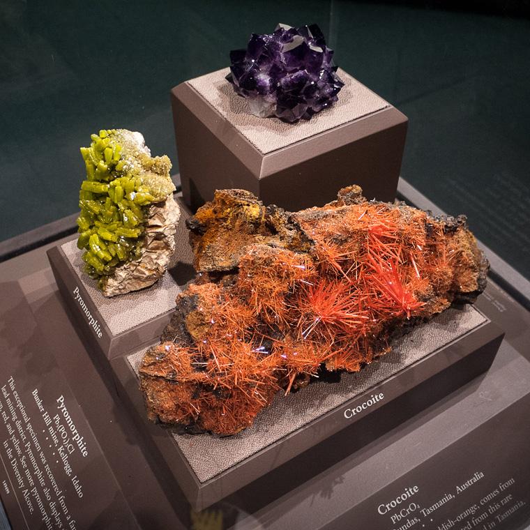 Кристалы в музее Натуральной Истории Вашингтона