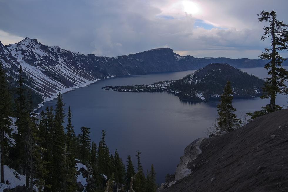 Озеро кратера вид налево