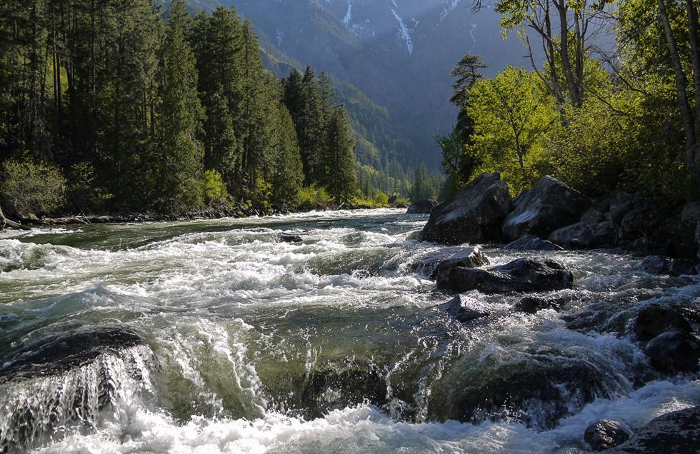 Река в каскадных горах