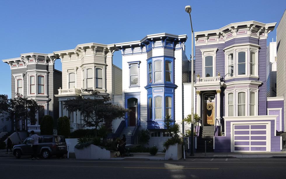 Разноцветные домики Сан-Франциско
