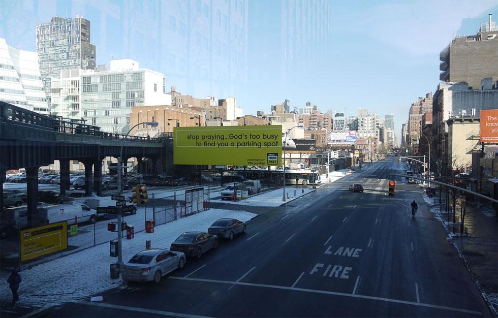 Вид на улицу со смотровой Skywalk