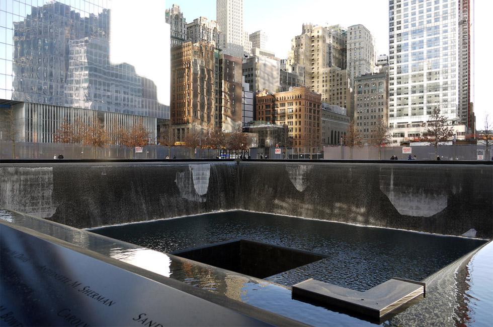 Водопад на месте WTC