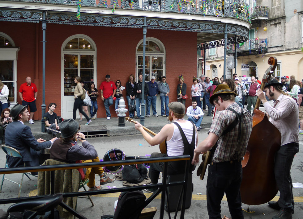 Уличный оркестр во французском квартале