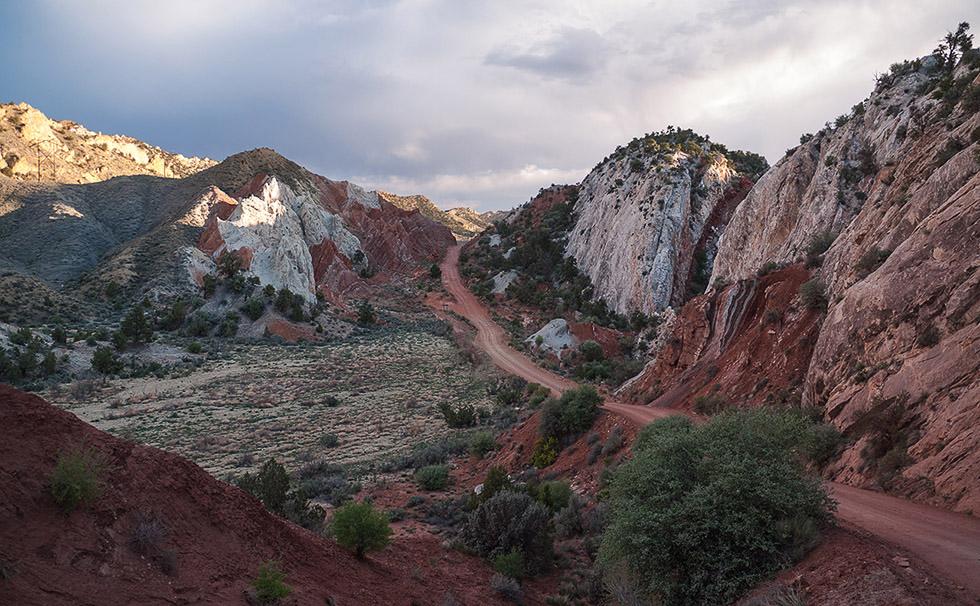 Долина конусов с северной стороны