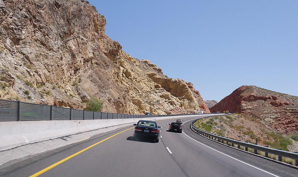 Дорога из Вегаса на север