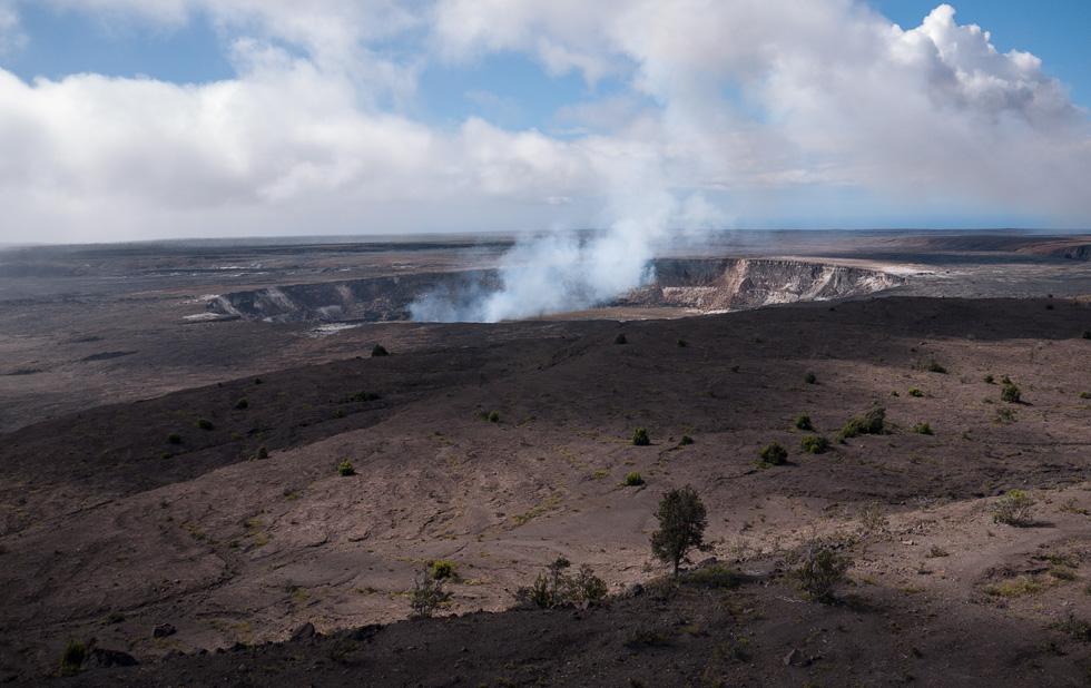Самый главный кратер Гавайского вулкана