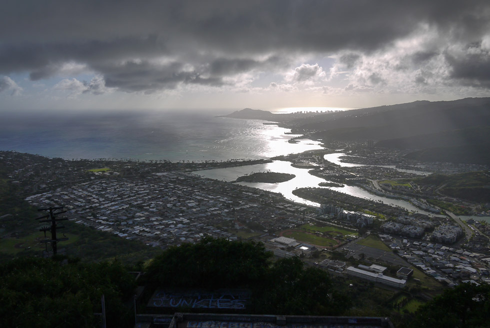 Вид на городок с вершины Коко трейла