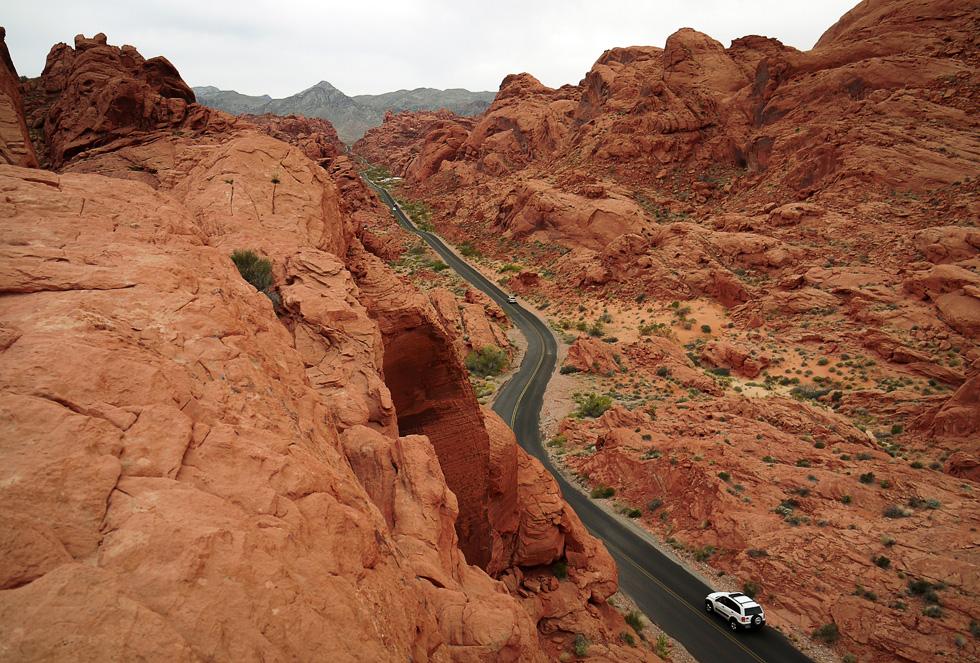Вид на дорогу с холма